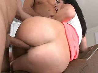 Fellow oils ass of gorgeous chick before banging her snatch