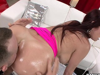 We have the infamous Tiffany Mynx in the residence this day. Now if u have at no time heard of her your unquestionably lost, rotfl. This Honey unquestionably likes to fuck and that chick completely can't live out of to put large things in her a-hole. So I invited my homie and his large dick over to pound her good pretty anal opening to sleep. Let me tell u that if anyone is getting put to sleep its my guy, haha. This Honey knows exactly what to do and what to say and the flawless time when to say it to make u unquestionably bust a load. that chick is a ideal definition of a professional porn star.